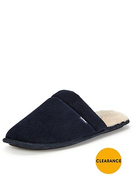 totes-isotoner-totes-cord-mule-with-memory-foam-slipper