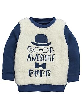 mini-v-by-very-boys-dude-fleece-borg-sweat-top