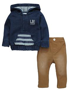 ladybird-baby-boys-denim-hoodie-and-woven-chino-trousers-set