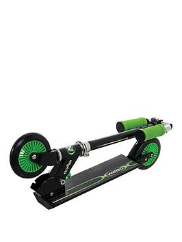 wired-folding-in-line-scooter-green