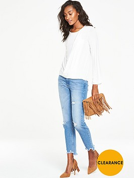 v-by-very-pleat-front-long-sleeve-top