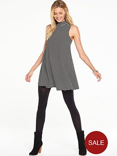 v-by-very-turtle-neck-rib-swing-jersey-dress