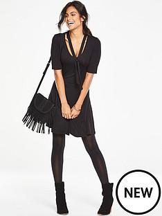 v-by-very-tie-neck-tea-dress-black