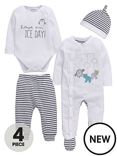 ladybird-baby-unisex-4pc-penguin-and-stripe-layette-set