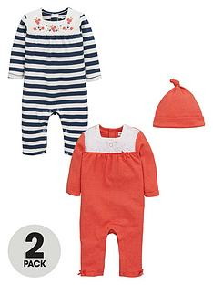 ladybird-baby-girls-rompers-and-hat-set-3-piece
