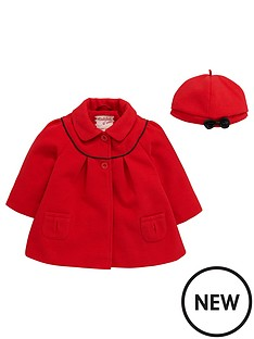 ladybird-baby-girls-melton-swing-coat-and-beret