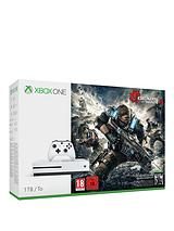 S 1Tb Console with Gears of War 4 plus Optional Extra Controller and/or 12 Months Live Gold