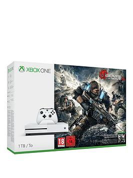 Xbox One S 1Tb Xbox One Console S With Gears Of War 4  Wireless Controller White