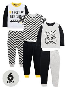 mini-v-by-very-boys-chevronmonster-pyjamas-set-6-piece