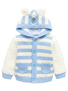 ladybird-baby-boys-teddy-bear-fleece-mix-hooded-cardigan