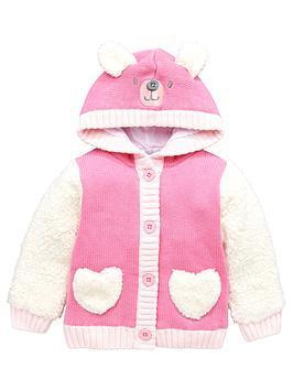 ladybird-baby-girls-teddy-bear-fleeced-mix-hooded-cardigan
