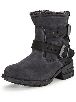 Cat Jory Slouch Buckle Ankle Boot