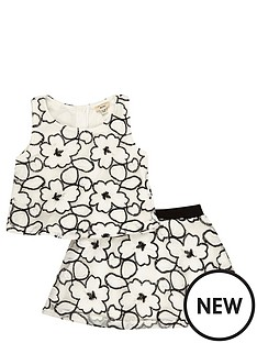 river-island-mini-mini-girls-lace-top-and-skirt-set