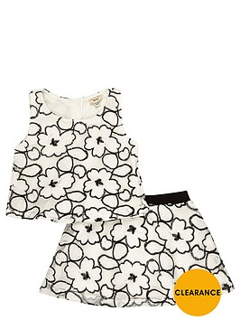 river-island-mini-mini-girls-lace-top-and-skirt-set