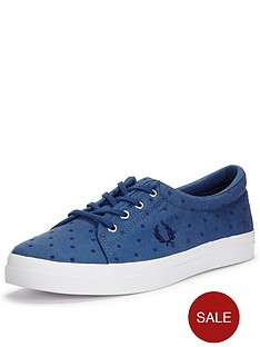 fred-perry-fred-perry-aubyn-polka-dot-twill-canvas-pump