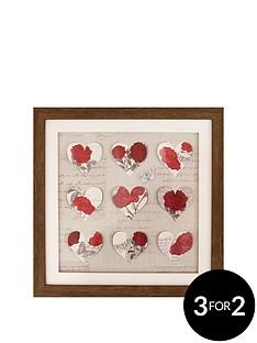 arthouse-3d-hearts-framed-print