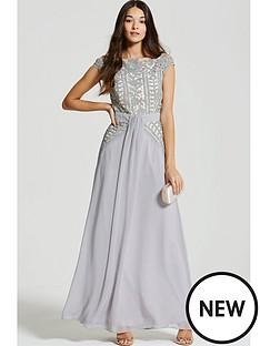 little-mistress-little-mistress-crochet-lace-drape-front-maxi-dress
