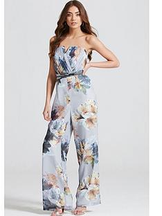 little-mistress-floral-print-bandeau-jumpsuitnbsp