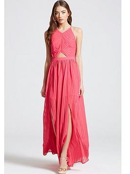girls-on-film-girls-on-film-hot-pink-pleated-maxi-dress