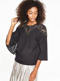 v-by-very-embellished-shoulder-cape-blouse