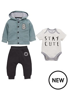 ladybird-baby-boys-3pc-hooded-sweat-bodysuit-and-jogger-set