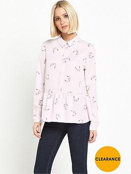 miss-selfridge-long-sleeve-peplum-blouse
