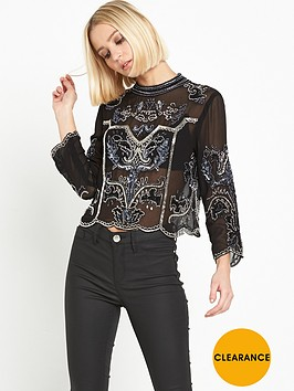 miss-selfridge-allegra-crop-blouse-black