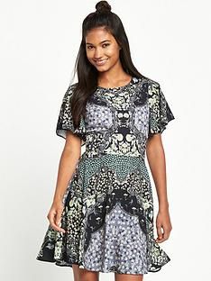miss-selfridge-sophia-mirror-print-angel-sleeve-dress