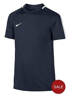 nike-junior-academy-dry-short-sleeve-t-shirt-navy