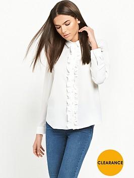 miss-selfridge-miss-selfridge-ivory-ruffle-placket-shirt