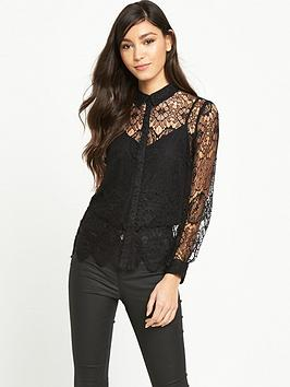 miss-selfridge-all-over-lace-shirt