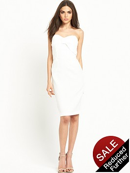 miss-selfridge-bow-bandeau-pencil-dress