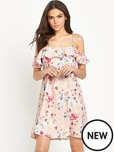 miss-selfridge-cold-shoulder-swing-dress