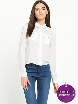 miss-selfridge-crop-double-pocket-shirt