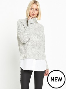 miss-selfridge-miss-selfridge-grown-on-neck-chunky-jumper-2-in-1
