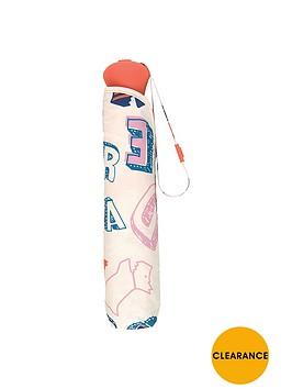 radley-spell-check-mini-telescopic-umbrella-ivory
