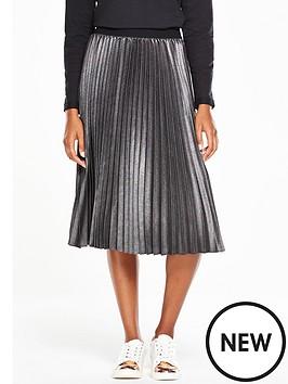 v-by-very-pleated-metallic-midi-skirt