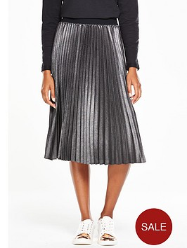 v-by-very-pleated-metallic-midi-skirt
