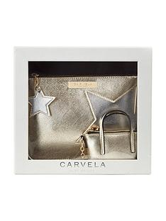 carvela-star-pouch-amp-key-ring-set-gold