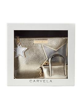 carvela-star-pouch-amp-key-ring-set-gold