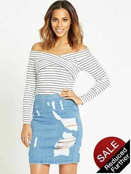 rochelle-humes-off-the-shoulder-top