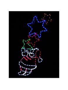 flashing-santa-with-stars-rope-light-outdoor-christmas-decoration