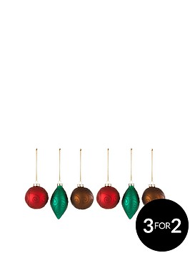 glass-baubles-with-glitter-swirl-set-of-6