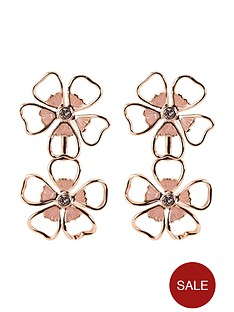 ted-baker-flower-double-drop-earrings