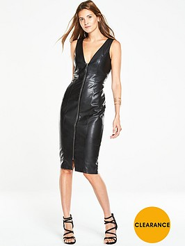 v-by-very-exposed-zip-wet-look-pencil-dress