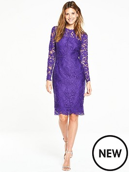 v-by-very-long-sleeve-ladder-detail-lace-dress