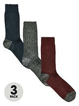 3 Pack Wool Mix Socks
