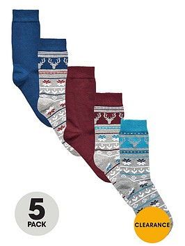 v-by-very-5-pack-christmas-fair-isle-stag-socks
