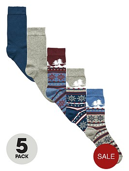 v-by-very-5-pack-christmas-fair-isle-scene-socks