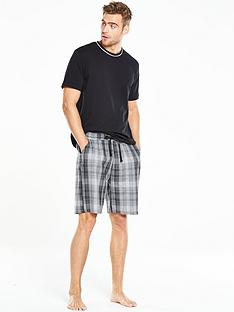 v-by-very-short-sleeve-crew-woven-short-pj